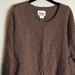 Anthropologie Flax top